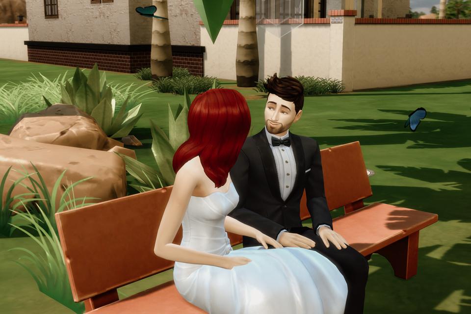 sesja ślubna w Sims 4