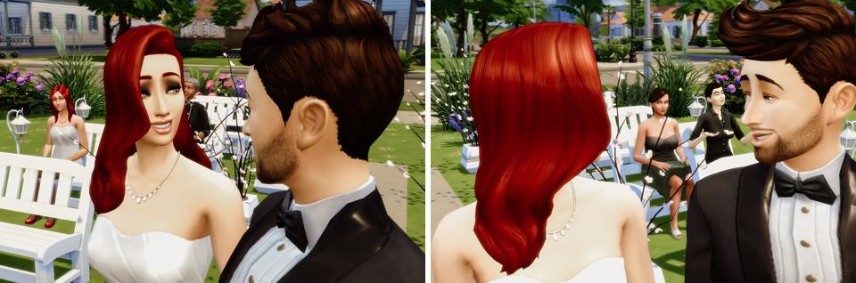 Sims 4 zdjęcia i film ślubny