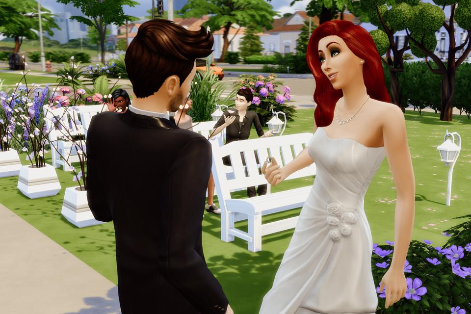 kamerzysta na ślub Sims 4