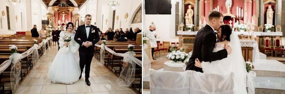 kościół w Piszu- ceremonia ślubu