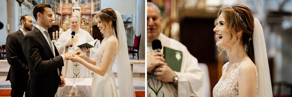 ślub w kościele świętego Józefa- przysięga