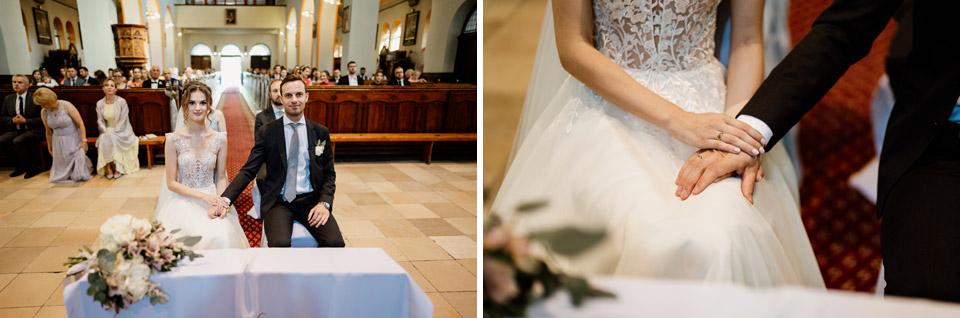zdjęcia pary młodej- ślub w kościele świętego Józefa