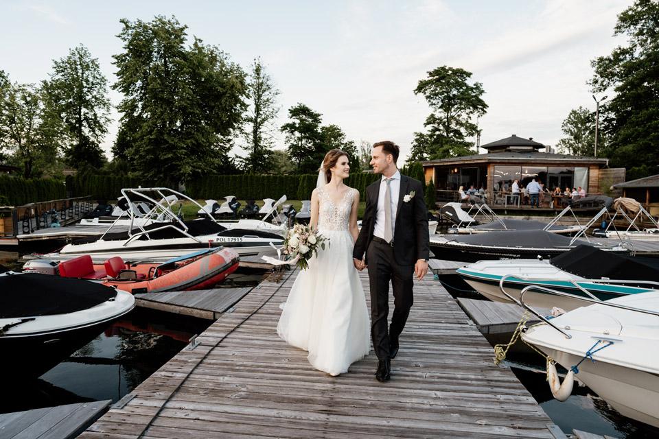 sesja ślubna na pomoście w Olsztynie