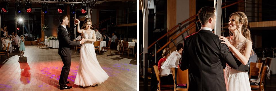 zdjęcia tańczącej pary młodej
