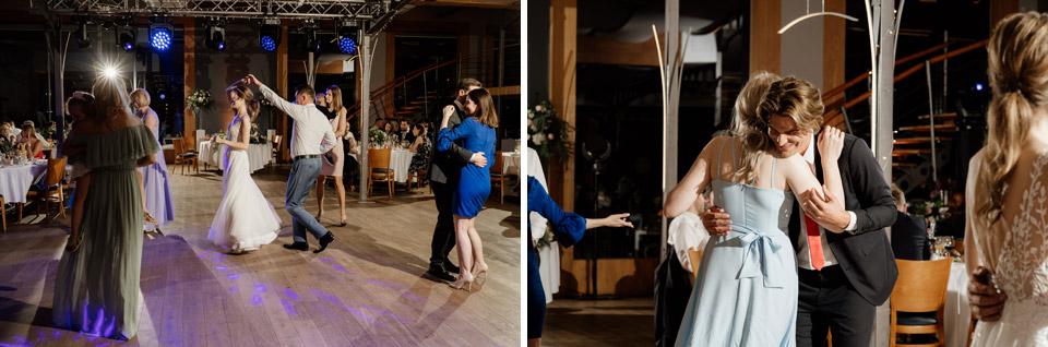 tańczący goście- restauracja Przystań