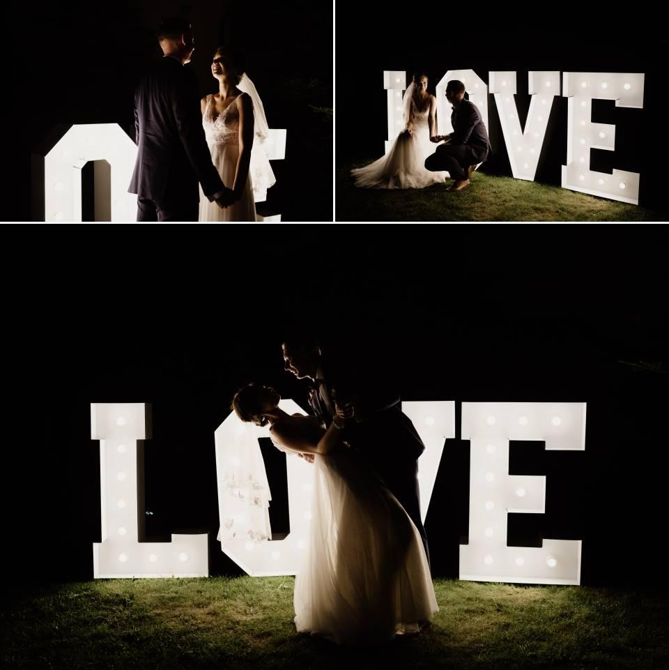 zdjęcia z wesela nocą