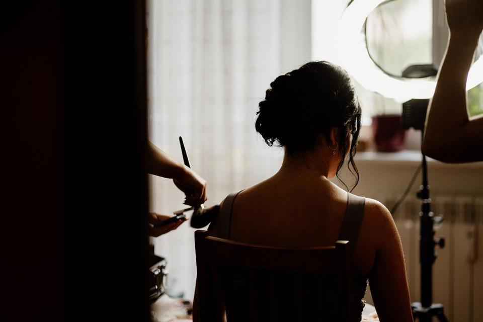 makijaż ślubny w domu