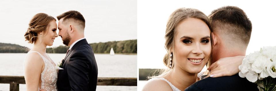 zdjęcia ślubne w dniu ślubu na plaży miejskiej Olsztyn