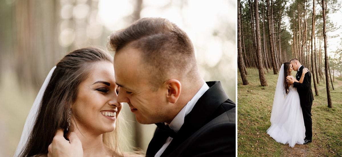 fotograf ślubny Gdańsk- sesja w lesie