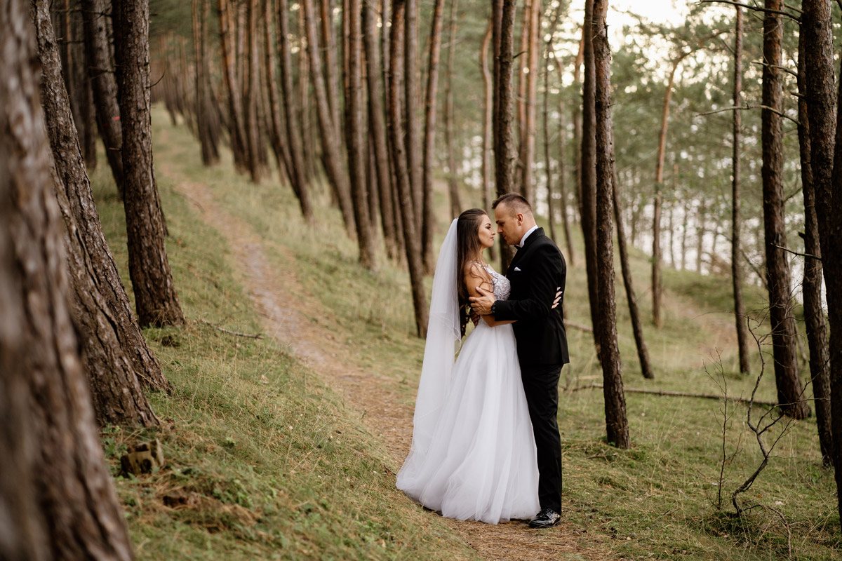 sesja ślubna nad morzem Sztutowo